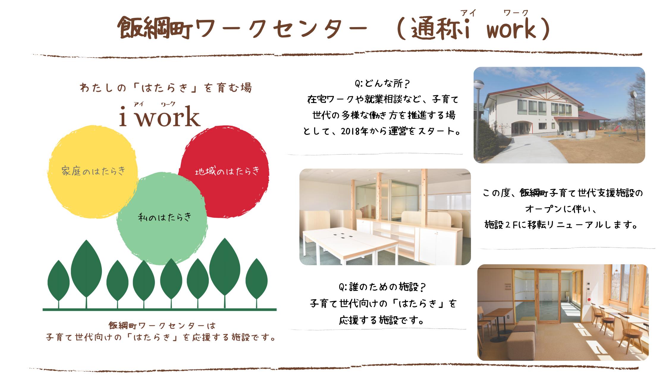 飯綱町ワークセンター(通称i work)